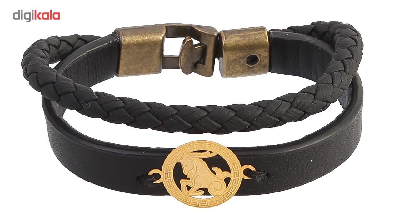دستبند طلا 18 عیار کابوک نماد ماه دی کد 175024