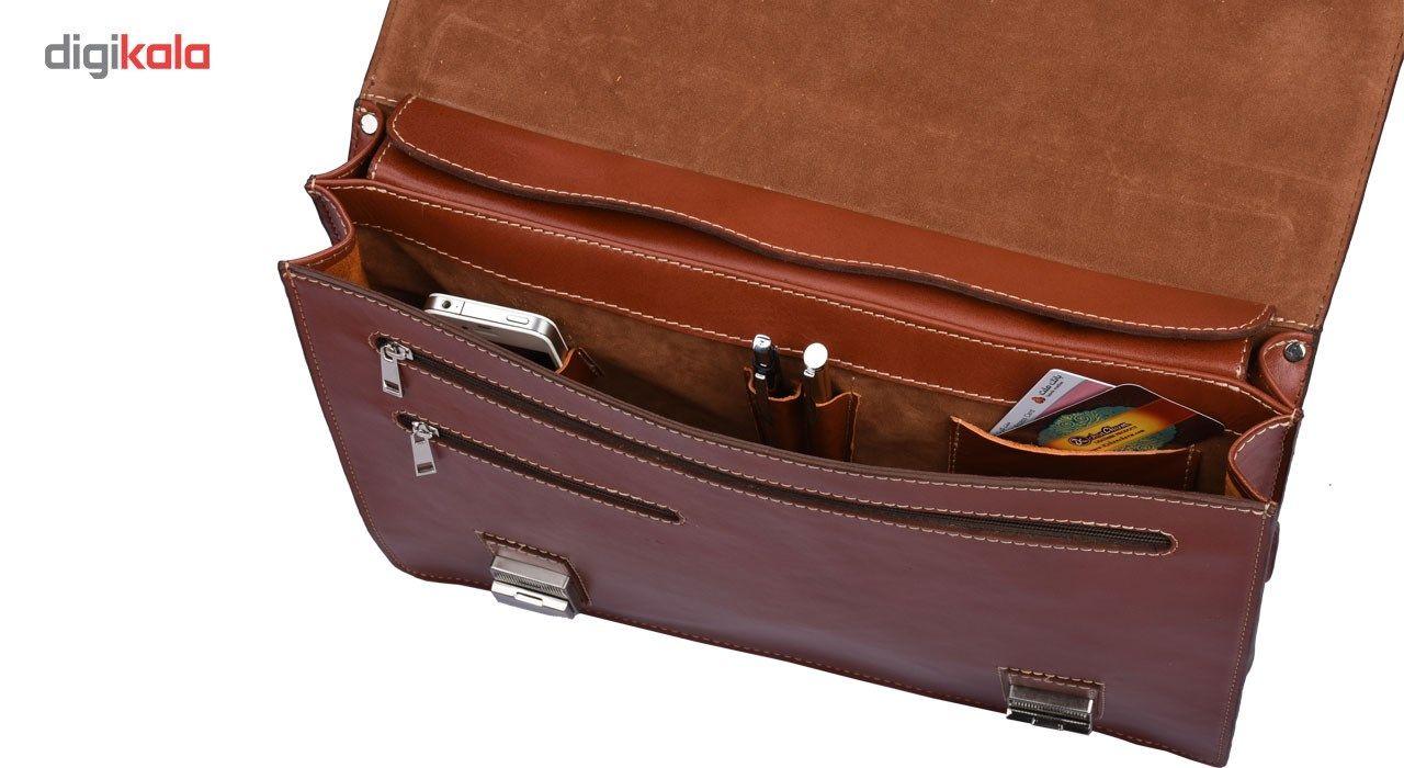 کیف اداری چرم طبیعی کهن چرم مدل L63 main 1 5