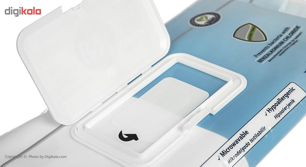 دستمال مرطوب بانوان یونی مد مدل Antibacterial Hygienic Perineal بسته 24 عددی