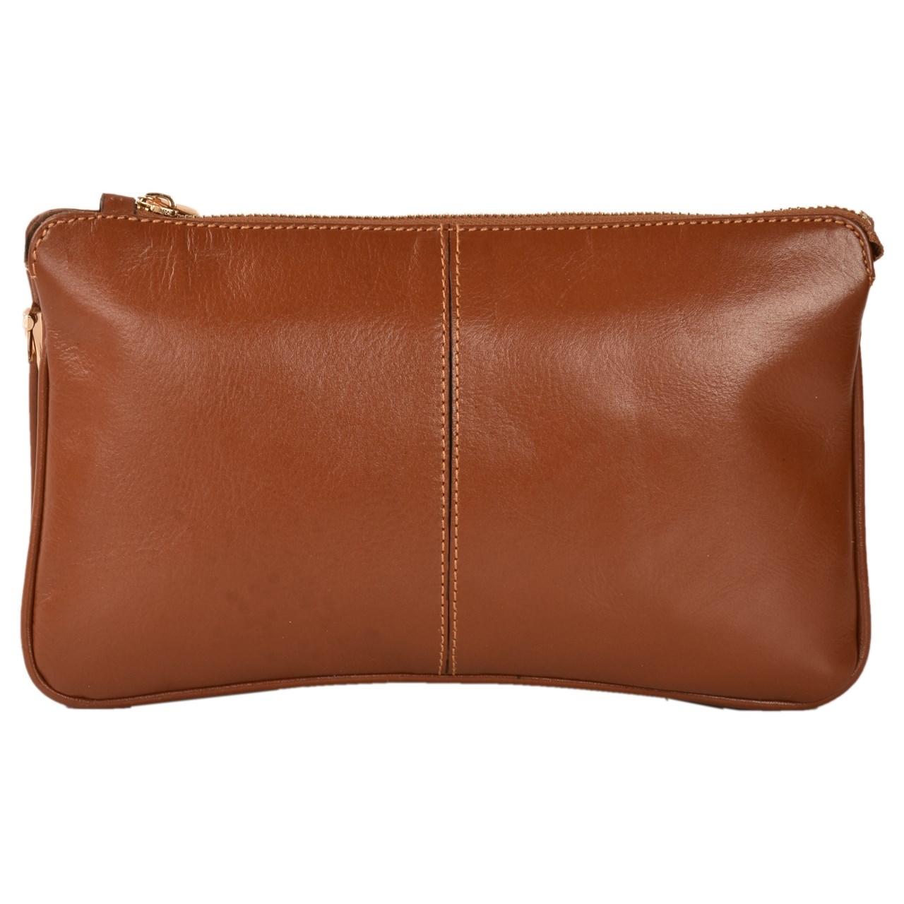 قیمت کیف رو دوشی چرم طبیعی کهن چرم مدل V157-1