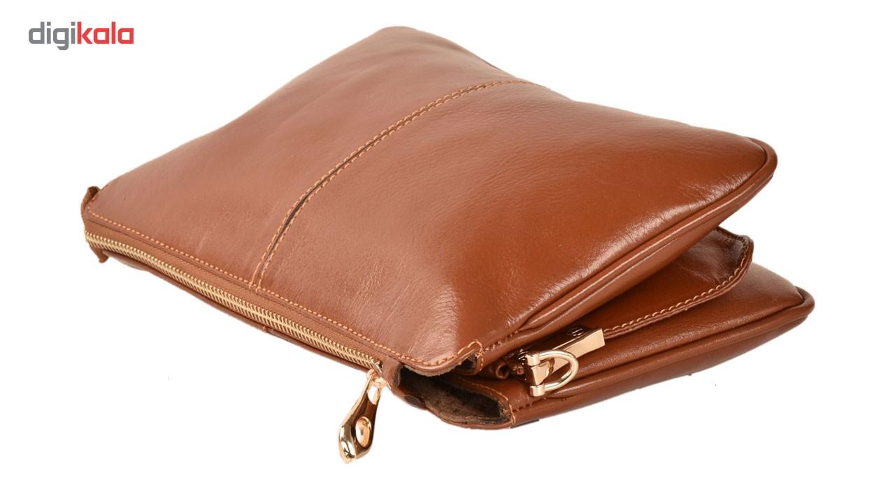 کیف رو دوشی چرم طبیعی کهن چرم مدل V157-1