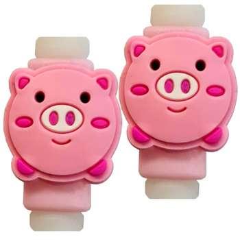 تصویر محافظ کابل مدل Cute Pig 02 بسته 2 عددی