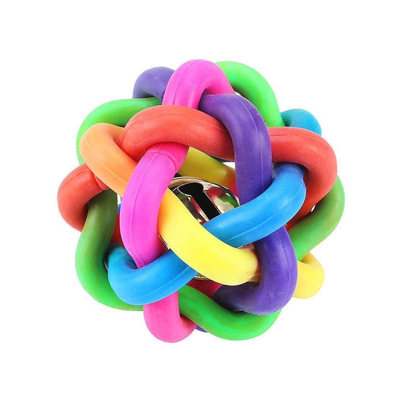 اسباب بازی سگ توپ پیچ در پیچ مدل Juguetes Perro Ball-L قطر 8.5 سانتی متری