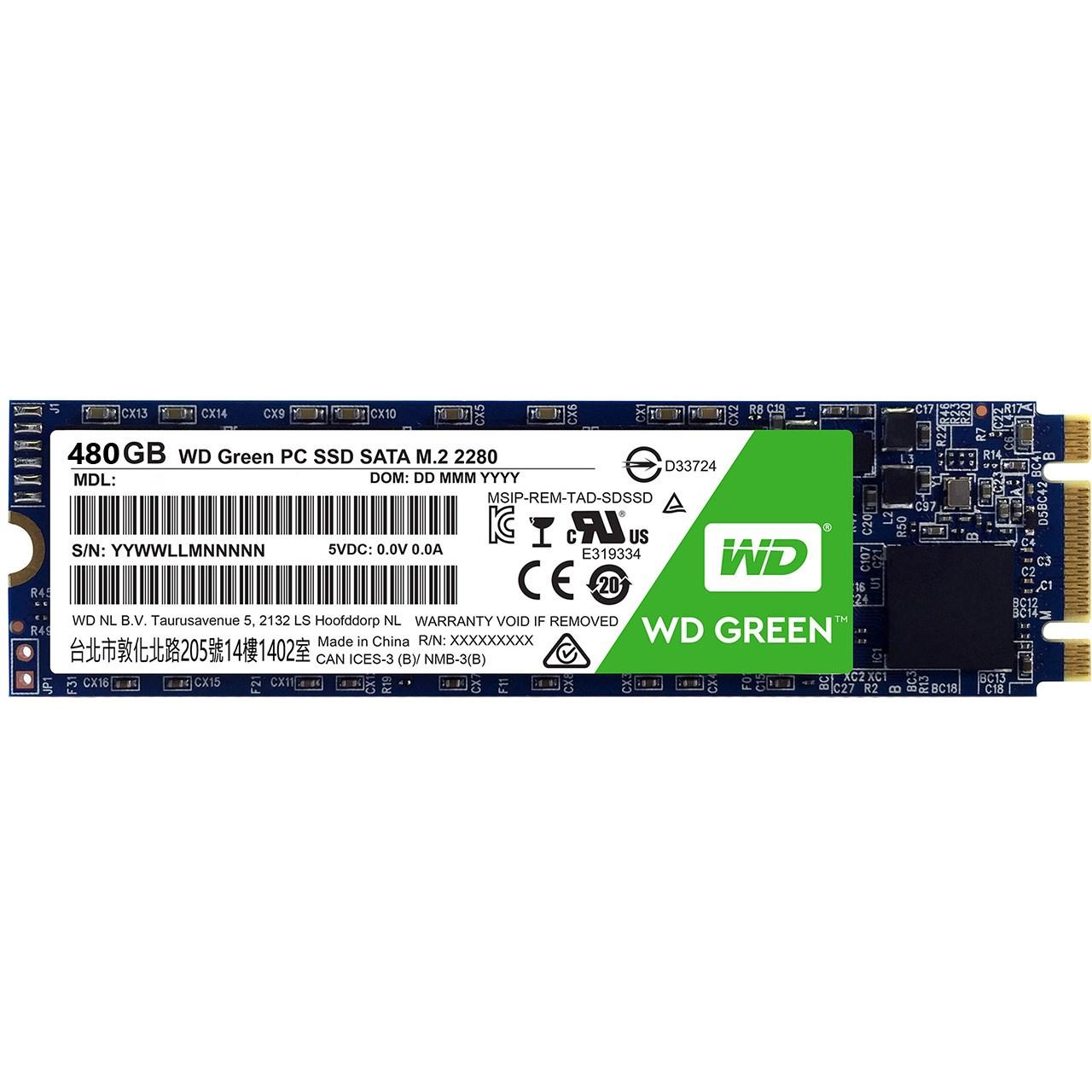 حافظه SSD وسترن دیجیتال مدل GREEN WDS480G1G0B ظرفیت 480 گیگابایت