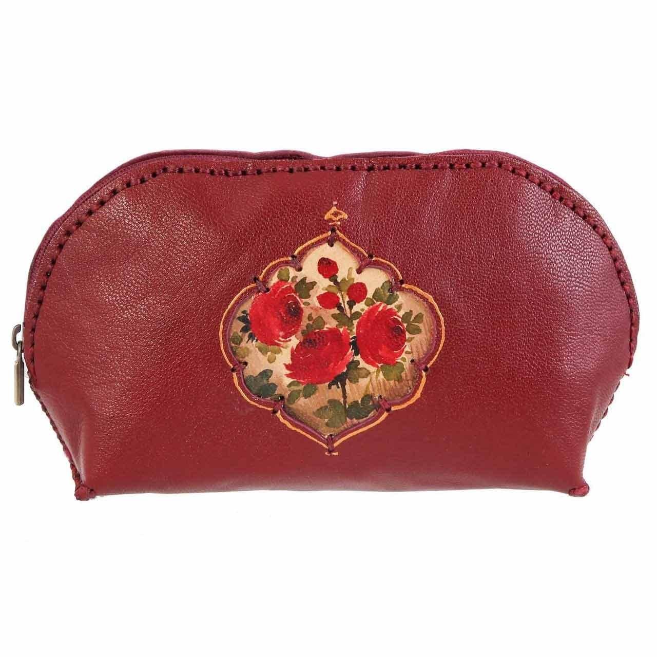 کیف چرم دستدوز دیبا کد 178007 آرایشی