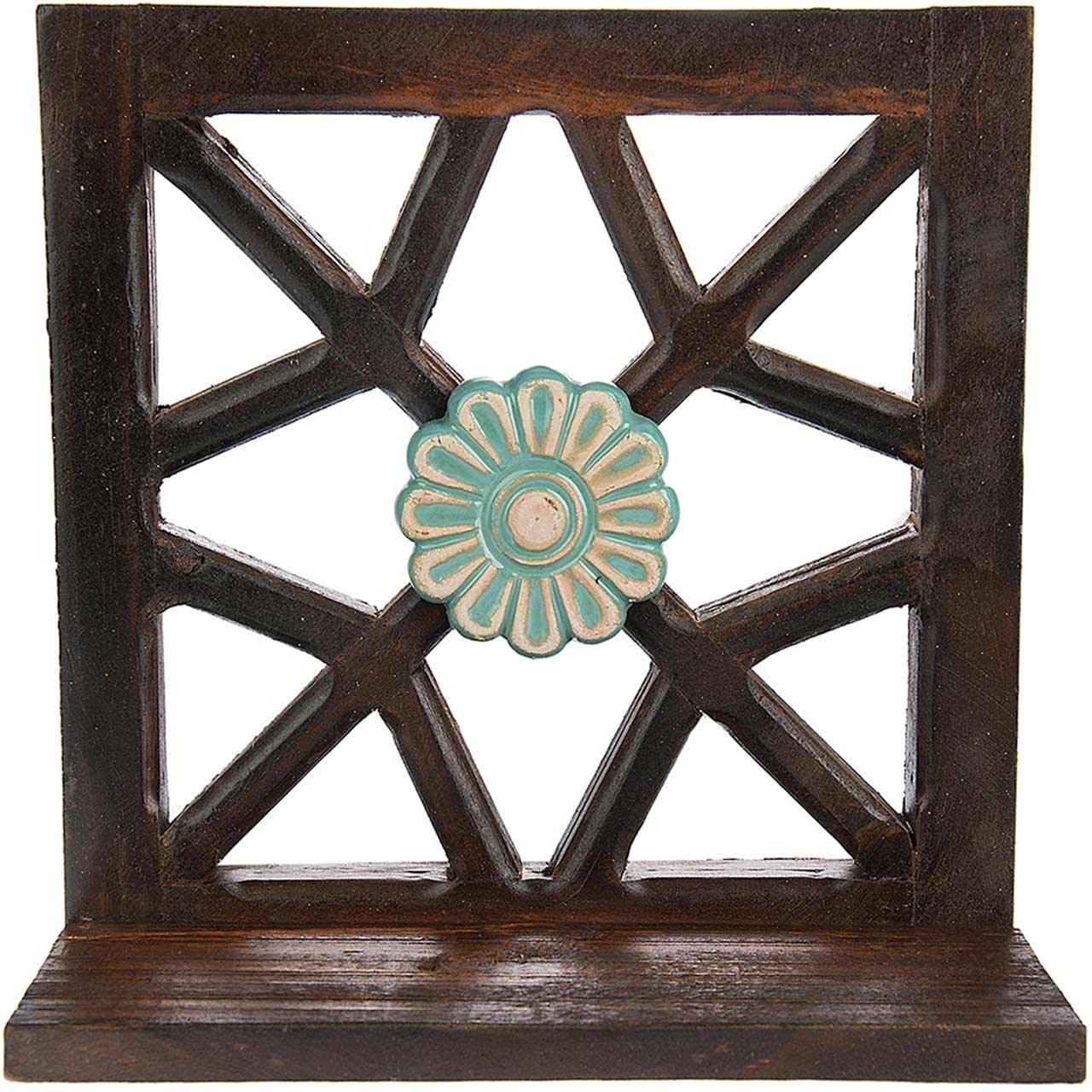 طبقه چوبی گالری اسعدی طرح تک گل کد 26028