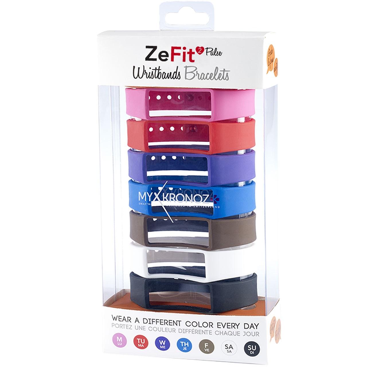 پک 7 عددی بند مچبند هوشمند مای کرونوز مدل ZeFit2 Pulse X7 Classic