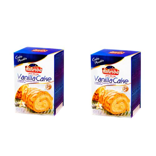 پودر کیک وانیلی کهربا بسته دو عددی
