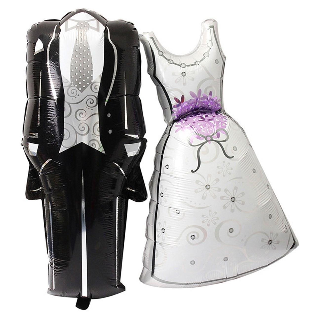بادکنک سورتک طرح عروس و داماد مدل فویلی