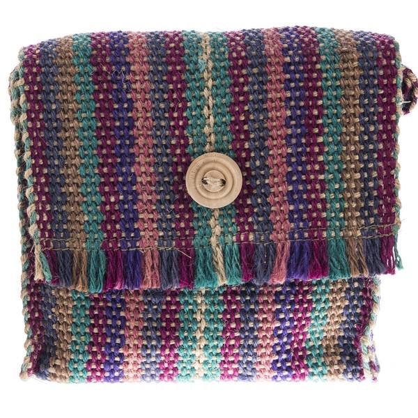 کیف دوشی کنفی هنرکده هیرا مدل دسته بلند ریش دار