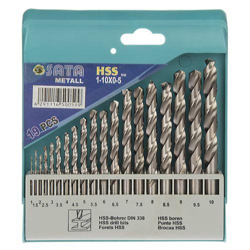مجموعه 19 عددی مته فلز ساتا مدل HSS