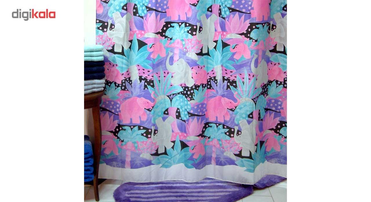 پرده حمام فرش مریم مدل Saba - سایز 200 × 180 سانتی متر