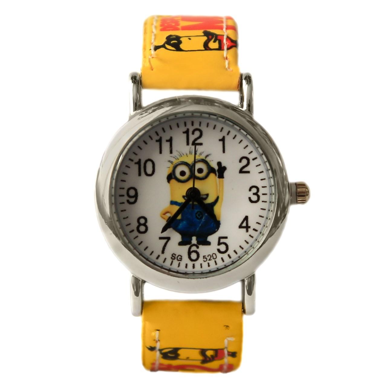 ساعت مچی عقربه ای بچگانه مدل Minion 42