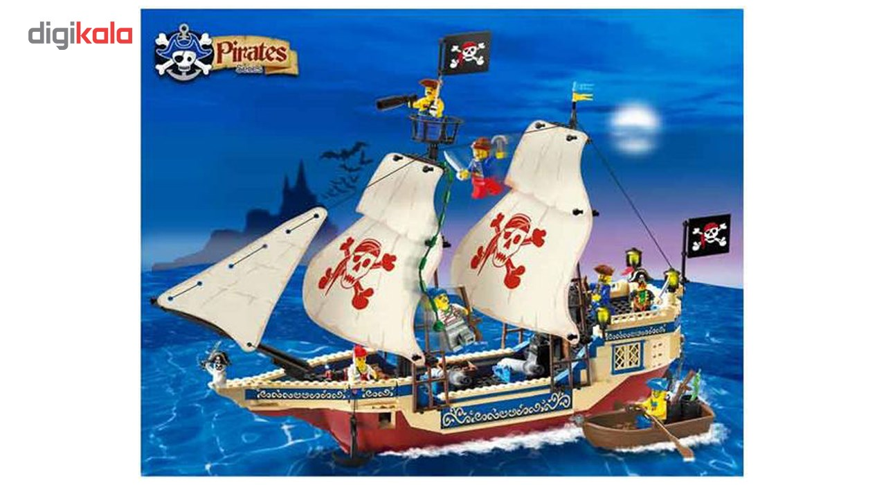 لگوکشتی دزدان دریایی انلایتن مدل 311 تعداد 487 قطعه