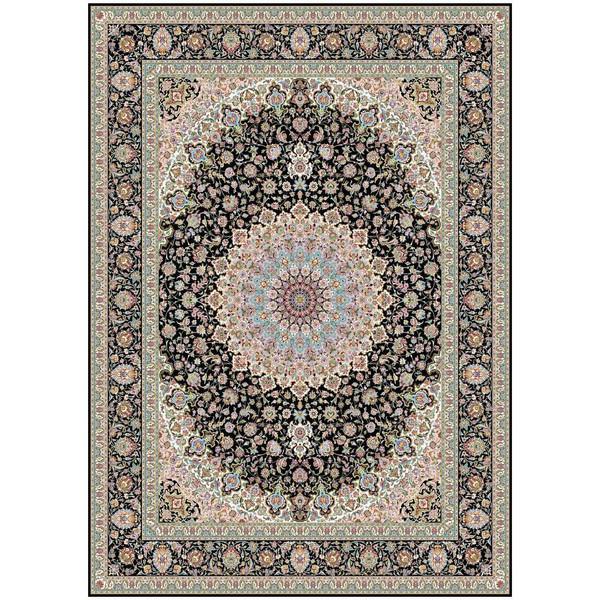 فرش ماشینی ماندگار پارس طرح نایین زمینه سورمه ای