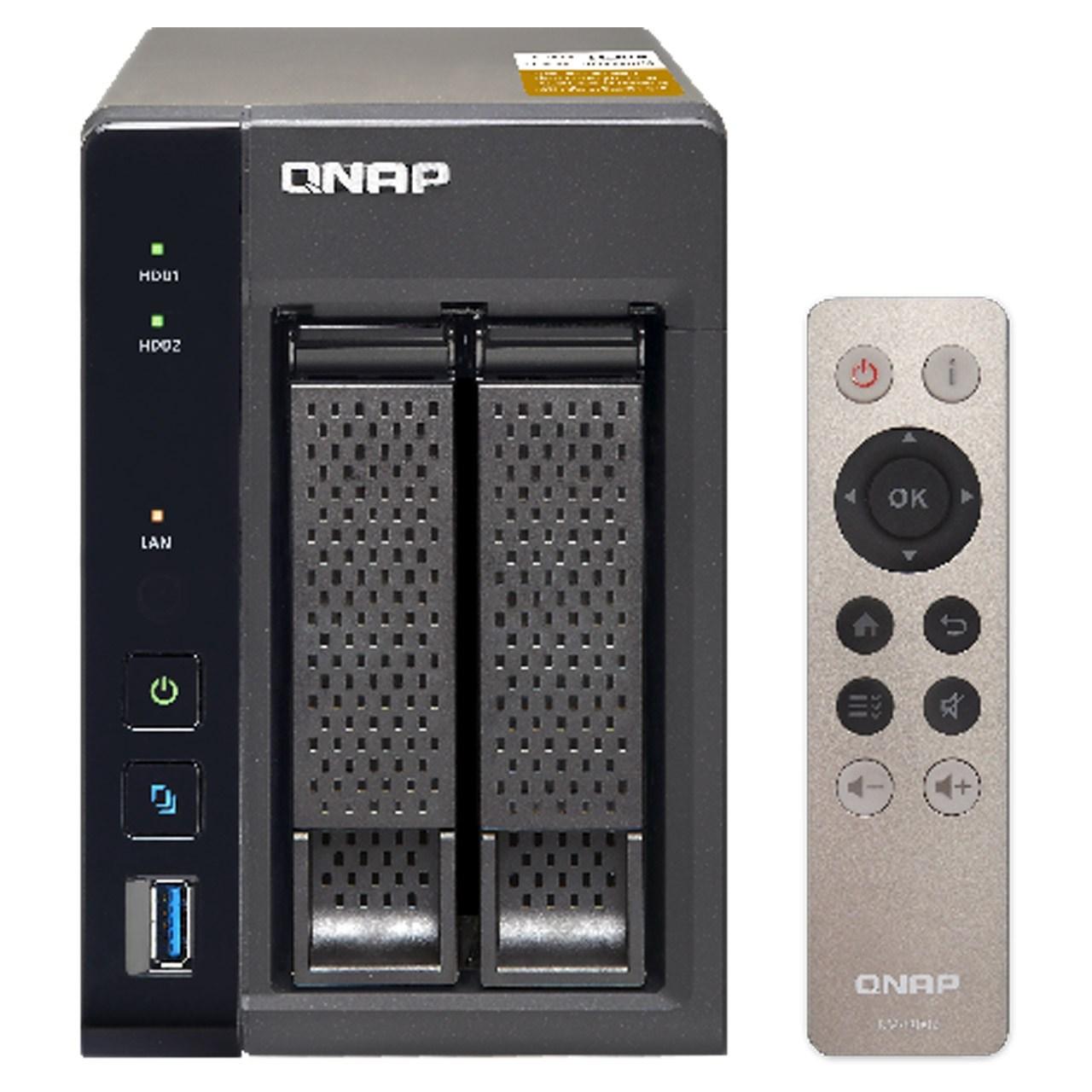 ذخیره ساز تحت شبکه کیونپ مدل TS-253A دارای دو سینی فاقد هارددیسک