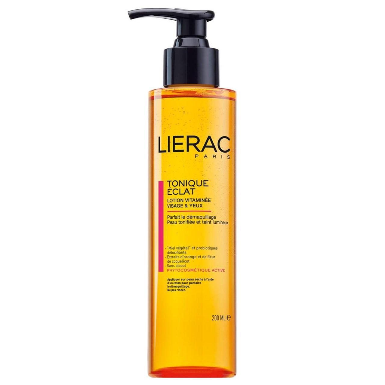لوسیون پاک کننده لیراک مدل Tonique Eclat Vitamin Soin حجم 200 میلی لیتر