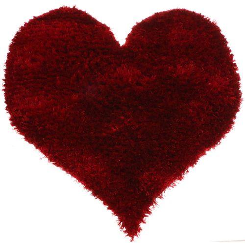 پادری فرش بهتافت طرح قلبی P17 پرز بلند سایز 50x50