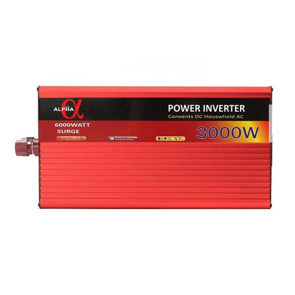 مبدل برق خودرو آلفا مدل 12V-TO-220V-3000W