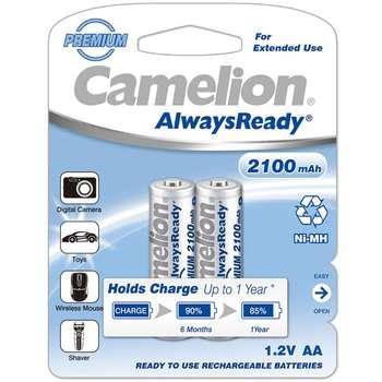 باتری قلمی قابل شارژ کملیون مدل AlwaysReady با ظرفیت 2100 میلی آمپر ساعت بسته 2 عددی