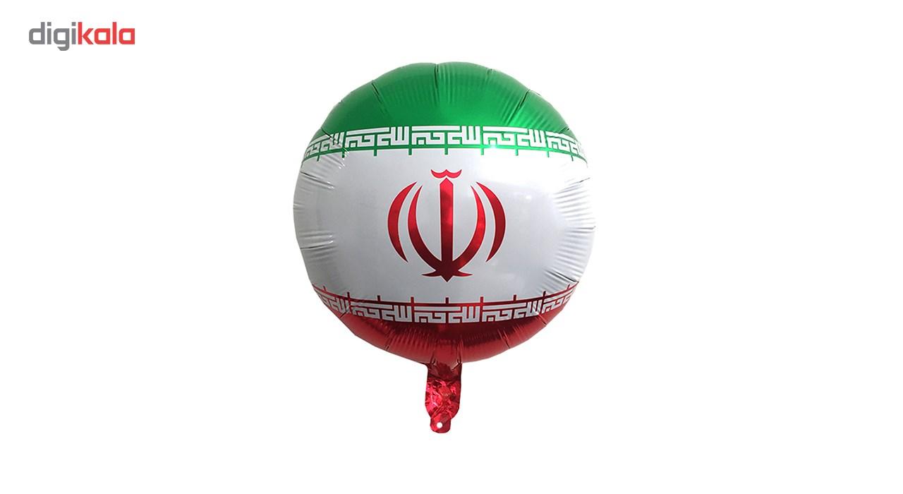 بادکنک فویلی سورتک طرح پرچم ایران