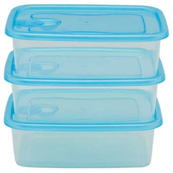 ست سه تکه ظرف نگهدارنده فرش باکس مدل 350 آبی