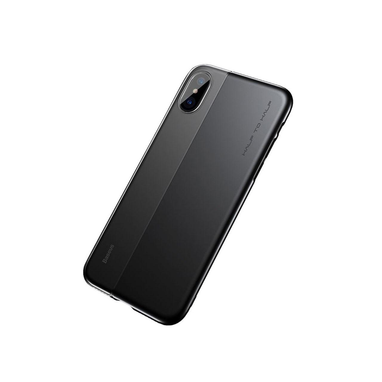 خرید اینترنتی [با تخفیف] کاور باسئوس مدل Half to Half Case مناسب برای گوشی موبایل آیفون X/10 اورجینال
