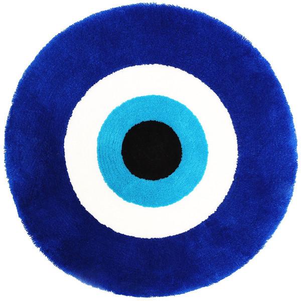 پادری فرش مریم مدل دایره بزرگ طرح چشم نظر