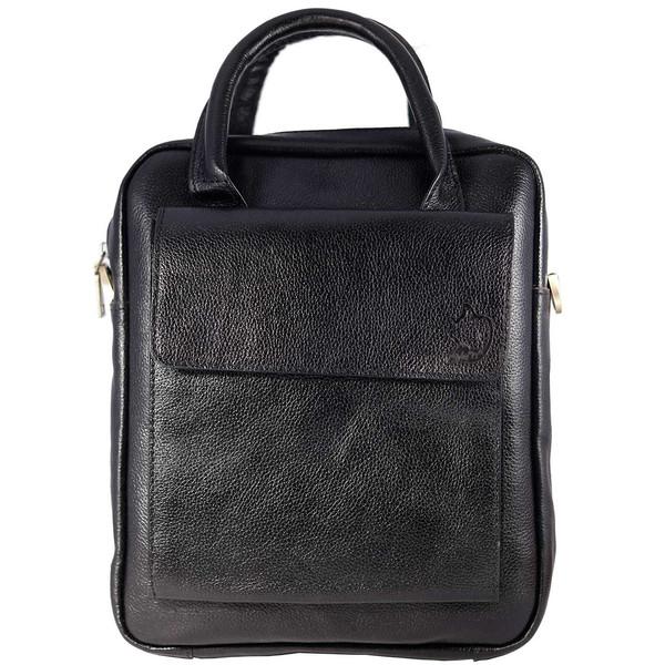 کیف اداری و دوشی چرم طبیعی چهارنظم مدل 21017B
