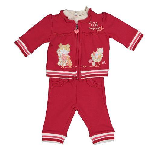 ست لباس نوزادی دخترانه مایورال مدل MA 266131