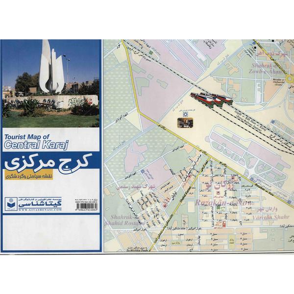 نقشه سیاحتی و گردشگری کرج مرکزی