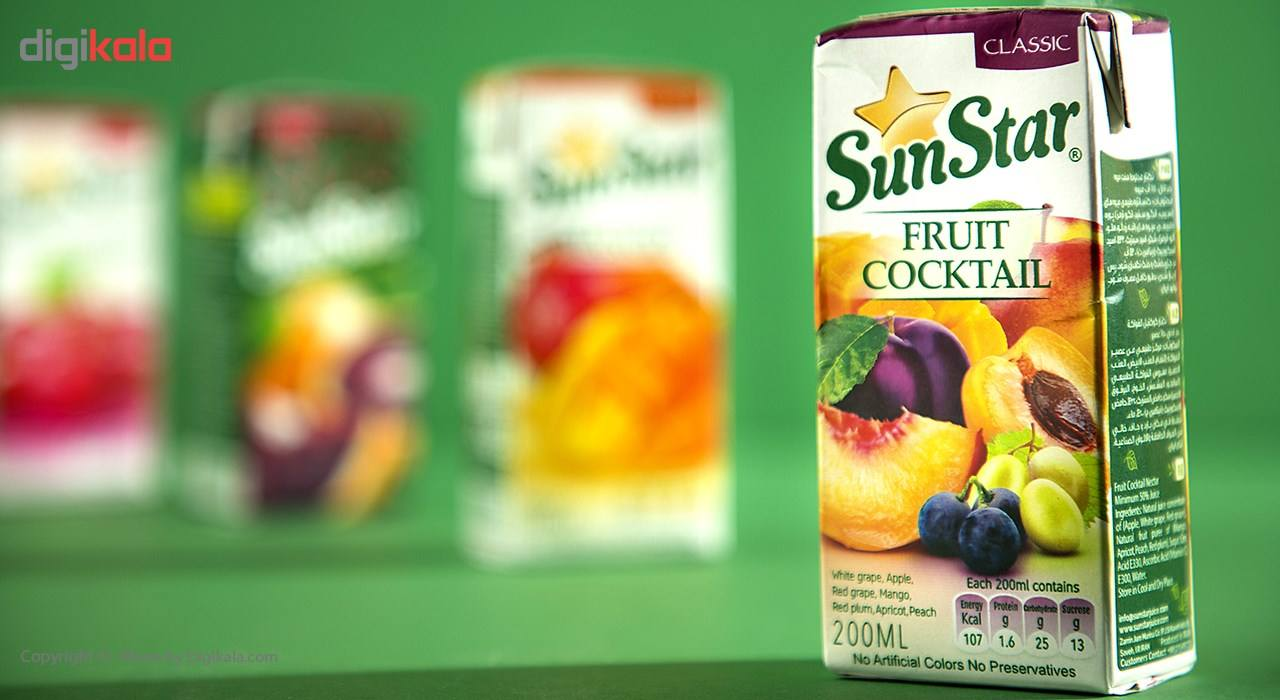 نکتار مخلوط هفت میوه سان استار حجم 0.2 لیتر main 1 1