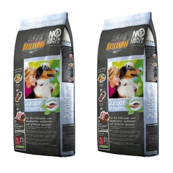 غذای خشک سگ بلکاندو مدل Junior GF Poultry وزن 1 کیلوگرم بسته دو عددی