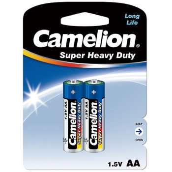 باتری قلمی کملیون مدل Super Heavy Duty بسته 2 عددی | Camelion Super Heavy Duty AA Battery Pack of 2