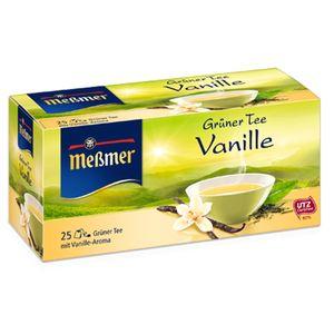 بسته دمنوش گیاهی چای سبز و وانیل مسمر مدل Gruner Tea Vanille