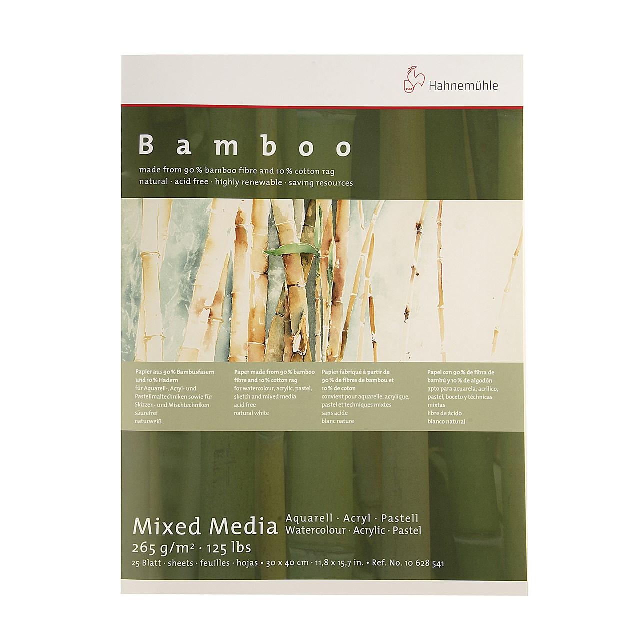 بوم آبرنگ دفترچهای هانه موله مدل Bamboo سایز 40 × 30 سانتیمتر 25 برگ