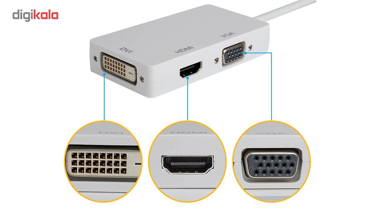 مبدل  Mini DisplayPort به HDMI، DVI و VGA مدل All in one main 1 1