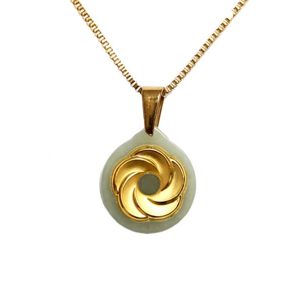 گردنبند طلا 24 عیار ماربلین طرح طلوع کد GJ2054