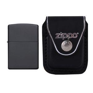 فندک زیپو مدل Regular Black Matte کد 218