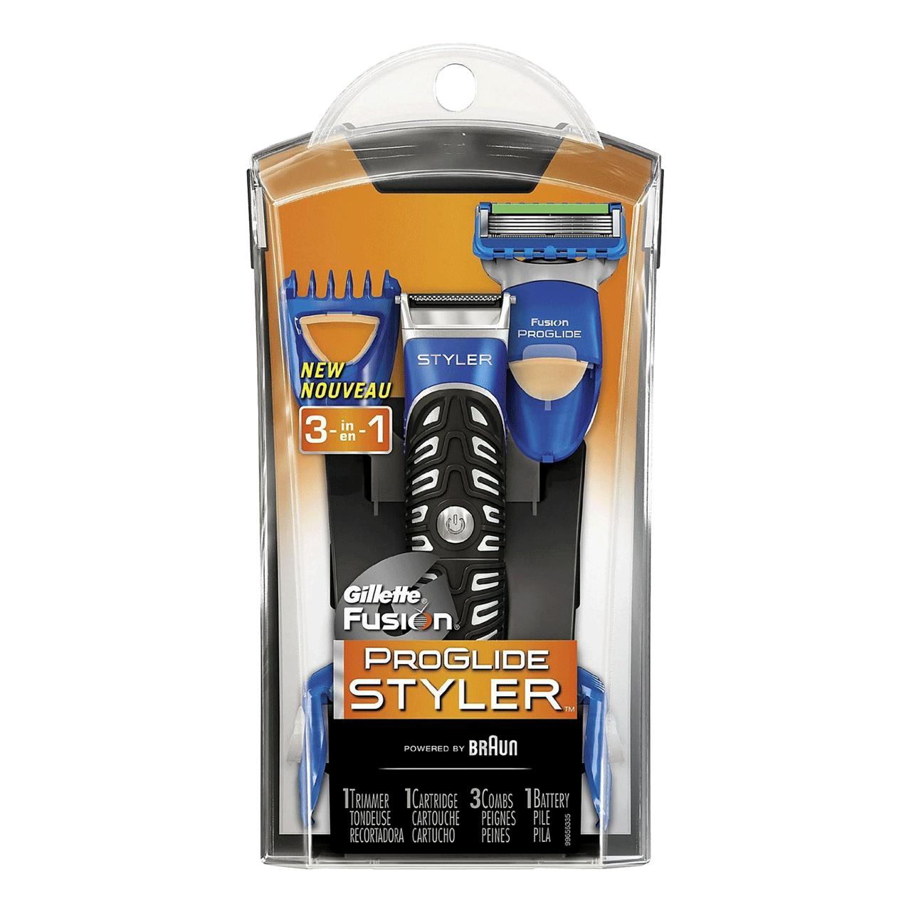 خود تراش ژیلت مدل Fusion Power Styler به همراه 3 سری شانه