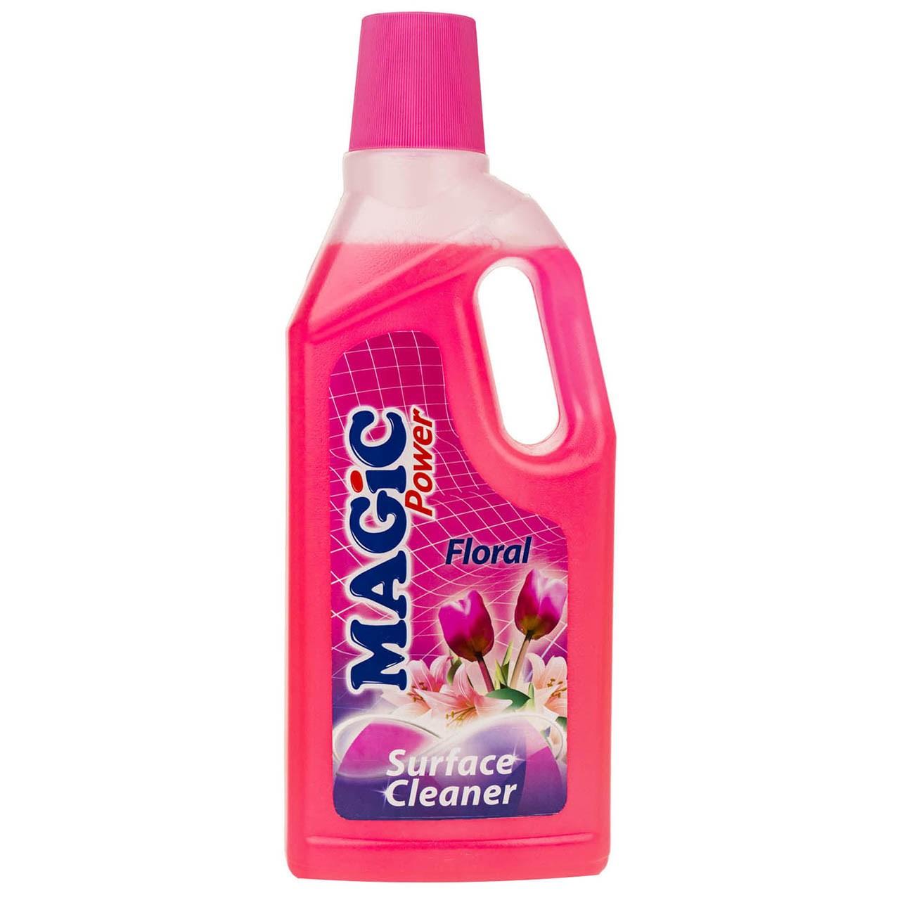 مایع پاک کننده سطوح مجیک پاور مدل Floral حجم 1 لیتر