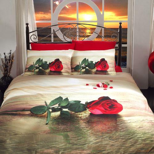 سرویس ملحفه ای گجلر استانبول مدل Rosa  یک نفره 3 تکه