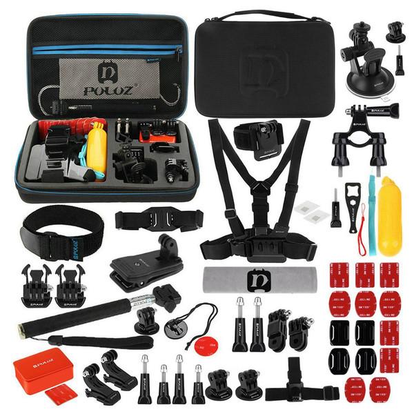 کیف لوازم جانبی پلوز مدل 53 تکه مناسب برای دوربین ورزشی گوپرو