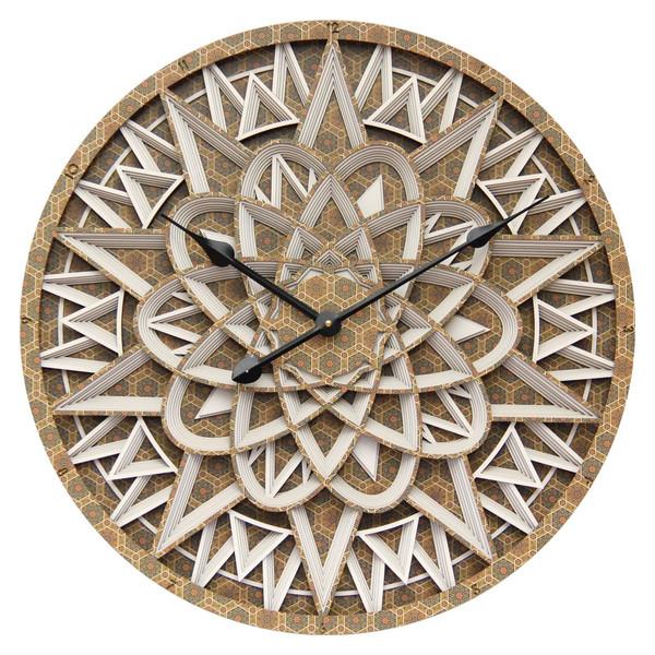 ساعت سه بعدی چوبی طرح هفت هشتی کد 202 سایز 60×60