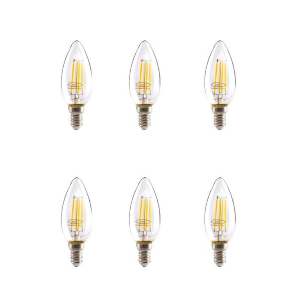 لامپ ال ای دی فیلامنتی 4 وات البو مدل ساده پایه E14  بسته 6 عددی