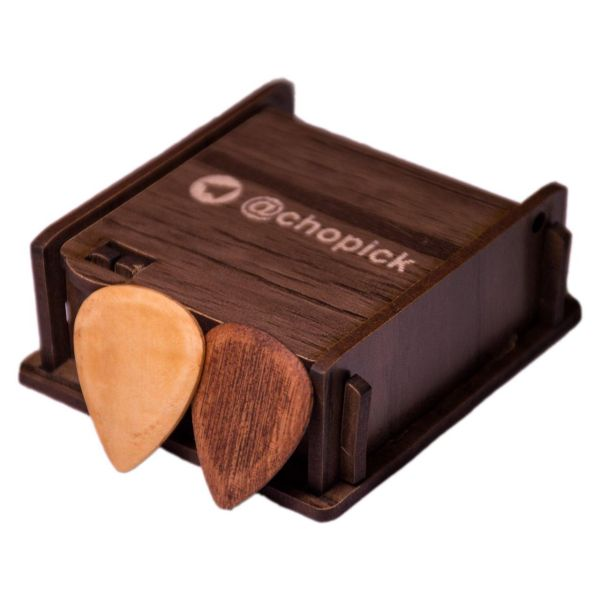 پیک چوبی گیتار چوپیک مدل افرافر و ماهوگانی بسته 2 عددی