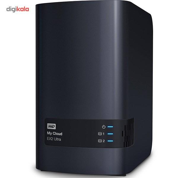 ذخیره ساز تحت شبکه وسترن دیجیتال مدل My Cloud EX2 Ultra WDBVBZ0080JCH-EESN ظرفیت 8 ترابایت