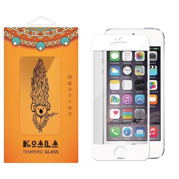 محافظ صفحه نمایش شیشه ای کوالا مدل Full Cover مناسب برای گوشی موبایل اپل آیفون5/5S/SE