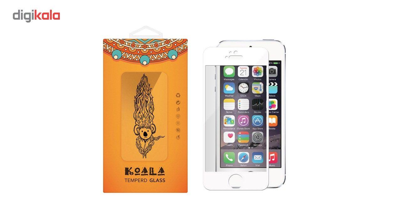 محافظ صفحه نمایش شیشه ای کوالا مدل Full Cover مناسب برای گوشی موبایل اپل آیفون5/5S/SE main 1 1