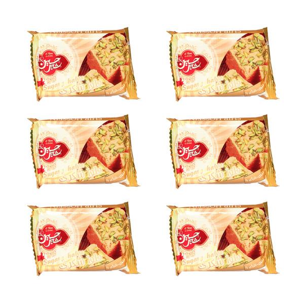 حلوا شکری شیرحسین - 50 گرم  بسته 6 عددی